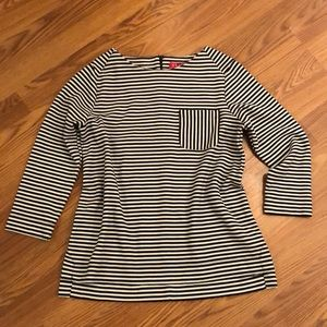 Striped Elle Pocket Top